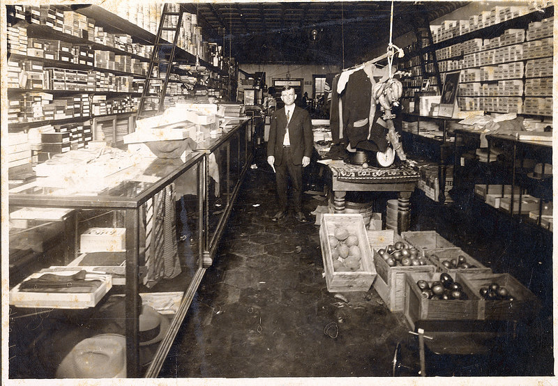E. D. Gaskins Store, Alapaha, Wilbur Gaskins pictured