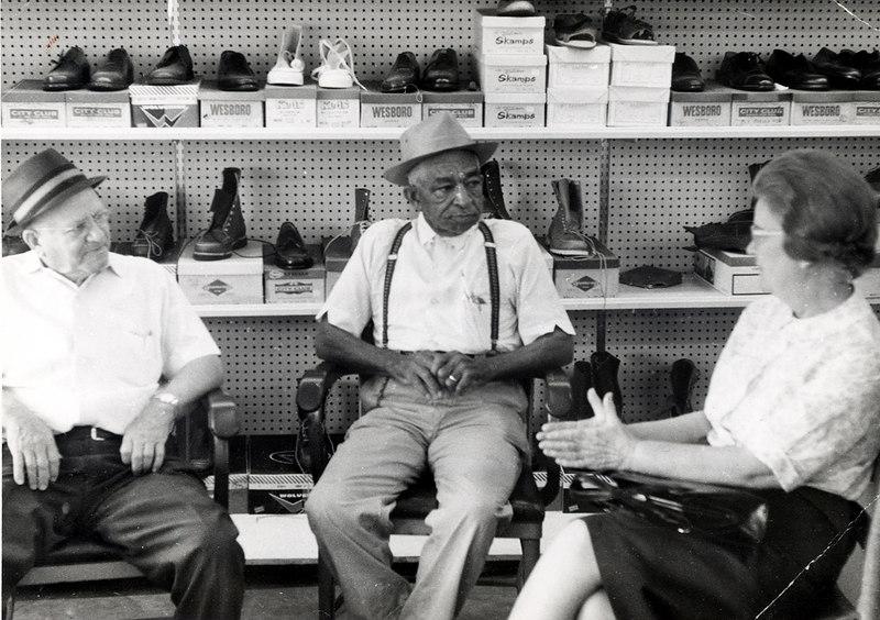 Wilbur Gaskins, Blue Shipman, and Ouida Gaskins Paulk, circa 1960s-70s