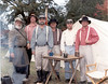 Alapaha members of local Sons of the Confederacy, 1990s.<br /> Far right, Tim McMillan; to his left, Donnie Hand (Please send identifcations to: berriencountaga@alltel.net)