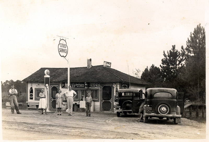 Jernigan's Service Station about 1936