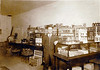 Robert Lee Stewart, at his store in Enigma, Georgia, circa 1920s-1930s.