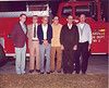 Retired Firemen at 1983 Nashville Fire Department Christmas Supper<br /> (L-R):  Jake Stone, Arlie Parker Jr., Luther Webb, Robert Hancock, W.R. Roberts, and Rob Jackson.