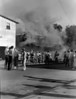 Griner's Cleaners Fire, June 1946<br /> <br /> The Nashville Herald, front page, June 13, 1946<br /> Griner's Cleaners Damaged By Blaze<br />      The building and plant of Griner's Cleaners, directly next to The Herald building, was practically a total loss following a blaze which started about 7 o'clock this morning.<br />      Firemen got the fire under control but inside of the building was a mass of charred walls and ceiling.  Clothing held for cleaning and much winter clothes in moth-proof bags were burned and soaked.<br />      It is thought the fire started from faulty wiring, as the place had not been opened for business at the early hour.  A passing person saw smoke pouring from windows and sounded the alarm.<br />      The business was owned and operated by Jerome Griner, son of Mr. and Mrs. Arnold Griner.  Young Griner recently returned from service.