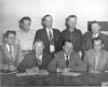 1945 Nashville Mayor and Council --  Front row L-R: City Clerk Merle Connell, John Harper, Mayor B.Morris, Roger Webb. Back row: Fred Taylor,Guy Connell, Governor Futch, P.L.Gaskins.