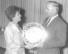 Nashville Woman's Club 1969 WOTY - Ruby Brown with Albert Folsom<br /> <br /> The Berrien Press, front page, May 22, 1969<br /> AWARD – Mrs. Harold (Ruby) Brown receives the award for the Woman of the Year of Nashville Woman's Club from Albert Folsom, Nashville jeweler, who furnishes the award each year.