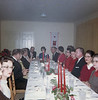 Right side of table, right to left:  Unknown, Ann Nix Maddox, Elmer Keeffe, Virginia Keeffe, unknown, Inez Byrd, J. W. Byrd, Mary Payne Perry, James (Jim) E. Perry (Photo courtesy of Margie West Tygart)