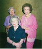 Nashville Woman's Club 50 Year Members - June 2001<br /> Ruby Brown (seated), Margie Tygart (standing, left), Teeny Whaley Giddens (standing, right)