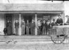 Probable photograph in front of H. B. Peeples Store, late 1800s-early 1900s, on west side of Square in Nashville. H. B. Peeples is the stout man in center of photo. (Photo courtesy of Susan Gaskins Patton)