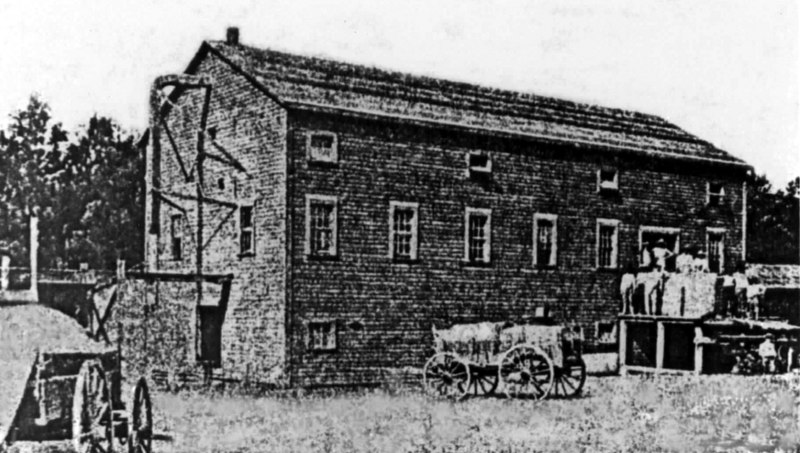 J. H. Bostick's Milltown Ginning and Implement Company, circa 1905<br /> Photo courtesy Arlon Simpson