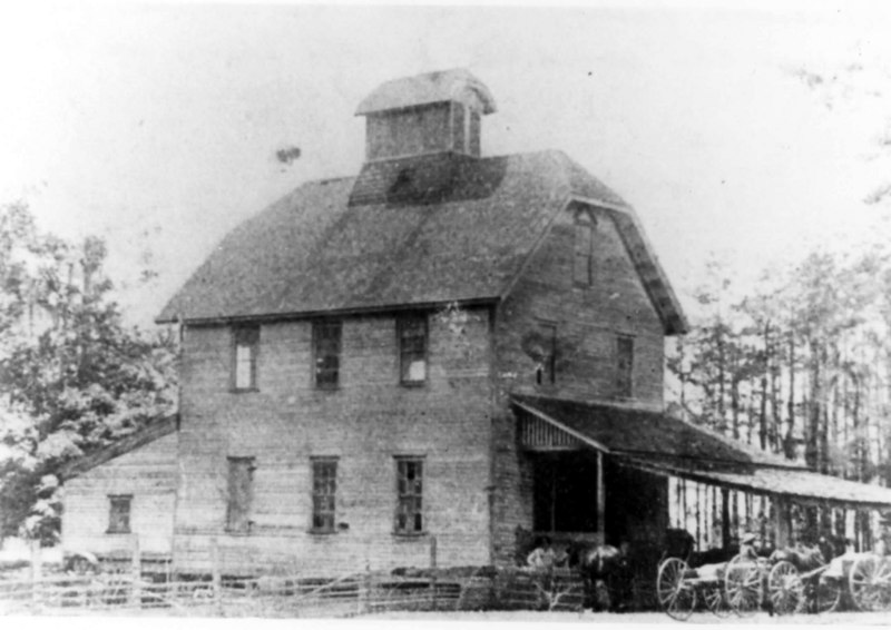 The old Banks Mill House<br /> William Lastinger built this mill house to replace th one that washed away in 1845.<br /> Photo courtesy of Marian Deas
