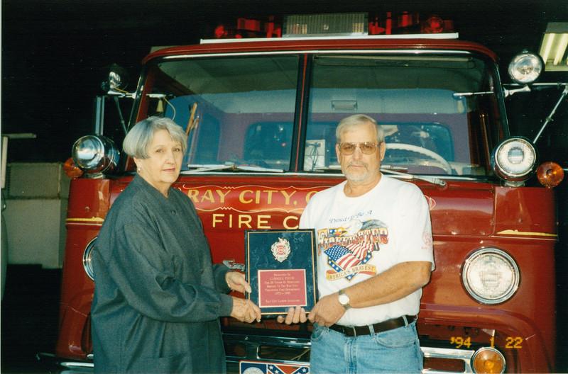 Carol Exum Retirement - January 2000