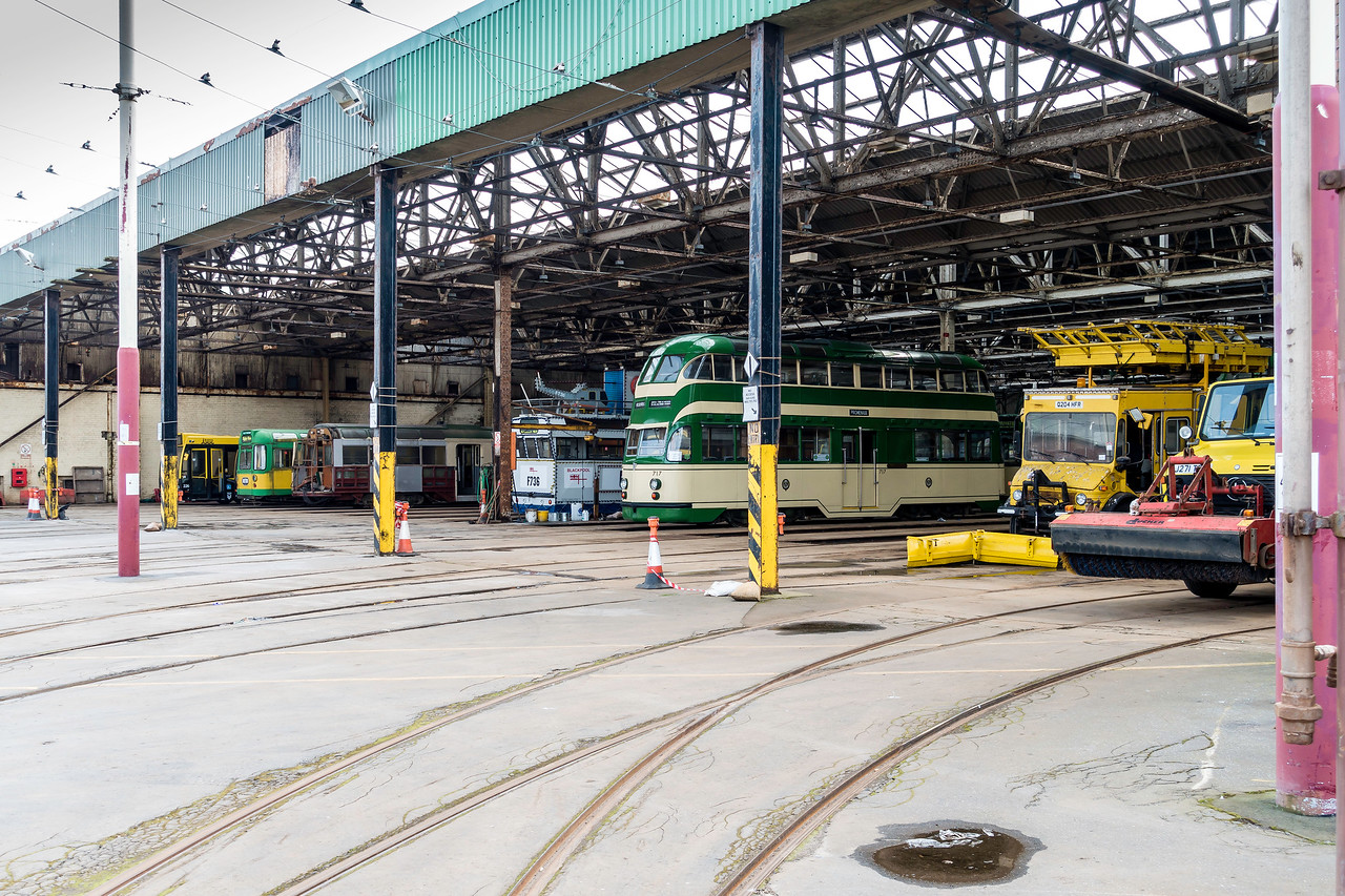 Heritage Trams at Rigby Road Depot