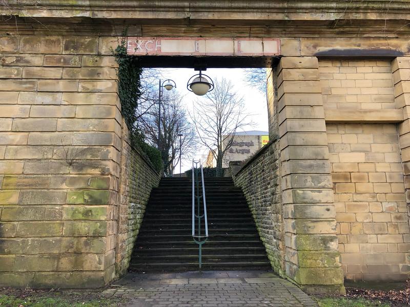 Entrance to Former Bradford Exchange Railway Station
