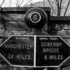 Canal milepost near Hebden Bridge
