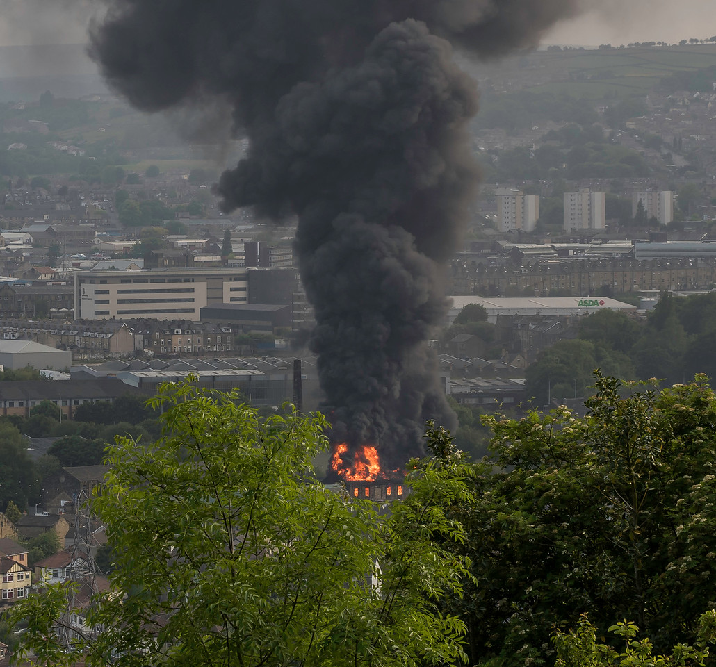 Fire at Aireworth Mills