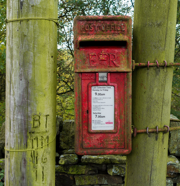 Post Box in Oakworth