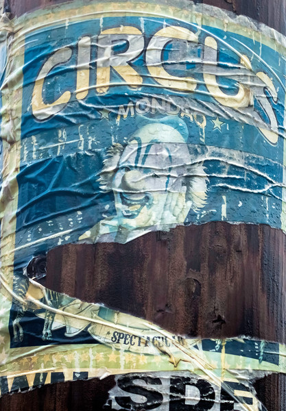Circus Poster on Telegraph Pole