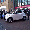 Toyota showing off the smallest 'four seater' (3+1 really) on the market, the iQ, outside The Mall, Preston.