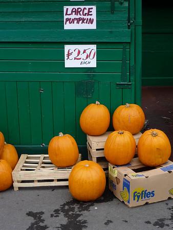 It's halloween in Rawtenstall, not a sudden interest in eating properly.
