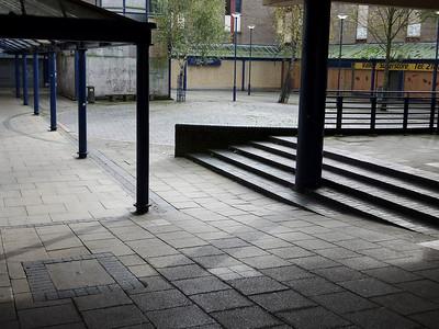 Only one shop remains open in Rawtenstall's desolate modern precinct.