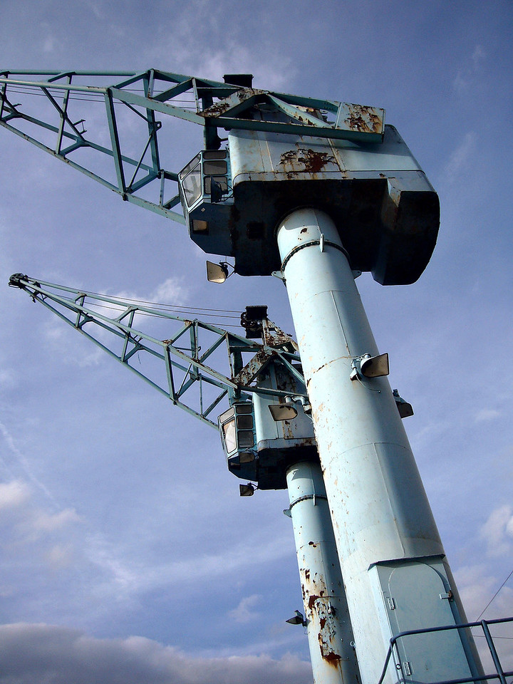 Old cranes at Salford Quays
