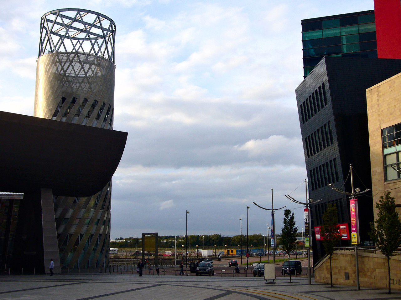 Plaza next to Lowry Centre