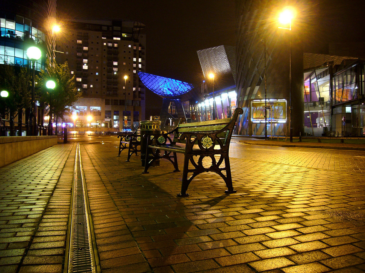 The Lowry at night