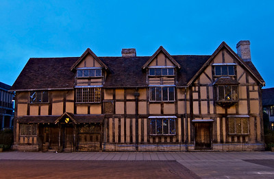 Shakespeare's house at night