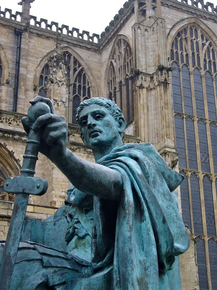 Statue of Constantine at York Minster