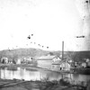 """#4294 - """"Winsted Silk Mill, from Lake Street - 1874""""<br /> Printed Oct. 16, 1913<br /> [an old negative - 2 on one plate]"""