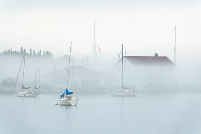 """Foggy Day in Grand Marais"""