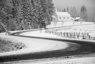"""GRAND PORTAGE 6937  """"Fresh Snow - County Road 17 and Holy Rosary Church"""""""
