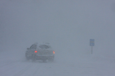 "GRAND PORTAGE 3658  ""Heavy blizzard conditions on Highway 61, December 2008"""
