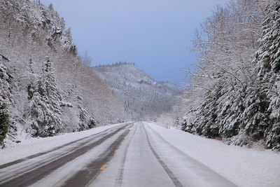 "GRAND PORTAGE 2850  ""First Snow""  Highway 61 on the East side of Mt. Josephine"