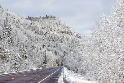 "GRAND PORTAGE 4300  ""Winter Highway Wonderland""  Highway 61 just south of the Canadian border in Grand Portage, MN."