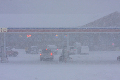 "GRAND PORTAGE 3662  ""Grand Portage Trading Post during a heavy blizzard in December 2008"""