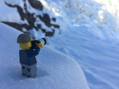 """Photographing the frozen waterfall"""