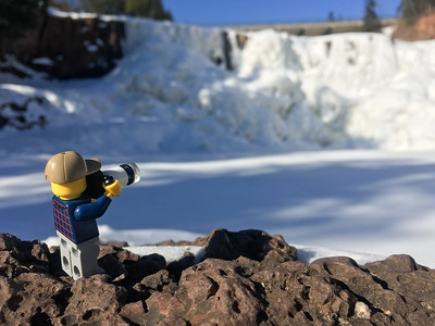 """""""Photographing the frozen waterfall"""""""
