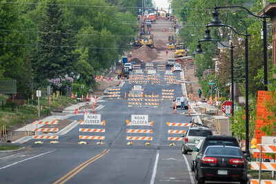 "TRANSPORTATION 04669  ""It must be summer!""  Road construction in Duluth, MN"