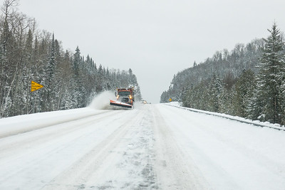 """Plowing Highway 61 over Mt. Josephine"""