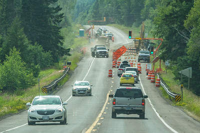 """TRANSPORTATION 00500  """"Summer on 61""""  Construction Season on Highway 61 near Hovland, MN"""