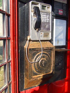 Phone booth in Ardglass, County Down. Friday, 27th May 2016. Pictured by Michelle