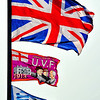 Loyalist 'Flegs' pictured at The Square, Ballywalter, 26/6/2013
