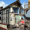 The former Police Station in Killinchy Street, Comber, being demolished on Wednesday, 23rd April 2014.
