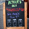Sign outside McBrides Public House, Comber Square.<br /> Friday, 13th September 2013