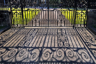 The Gates at Hillsborough Castle. Tuesday, 31st May 2016.