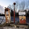 Derelict fuel pumps in Hilltown, County Down
