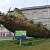 Spitfire Sculpture,  Conway Square, Newtownards.  Friday 16th April 2021.