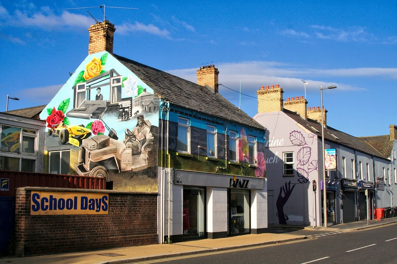 Wall murals, High Street, Newtownards. April 2019