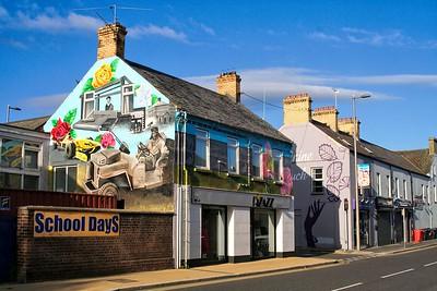 Wall murals, High Street, Newtownards. April 2019